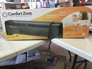 comfort zone CZ650 Digital Baseboard Heater opened damaged box