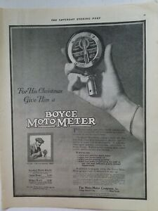 1917 for his Christmas give him a Boyce Moto meter vintage Automotive ad $9.99