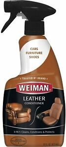 Weiman Leather Cleaner and Conditioner - 22 Ounce - Use On Finished Leather in