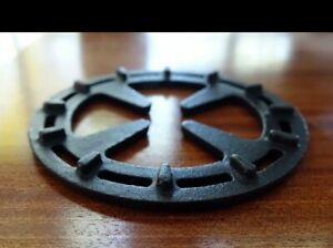 Gas Ring Reducer Help to Heats Evenly 5 Inch Cast Iron Black