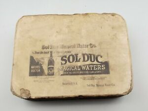 Antique Lithographic Stone Printing Block Litho Sol Duc Mineral Waters Seattle $299.99
