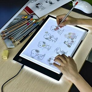 A4 LED Copy Board Super Thin Light Box Drawing Pad Tracing Table USB Cable wi...