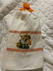 Teddy Bear Friends Double Thick Crochet Kitchen Towel By Laura