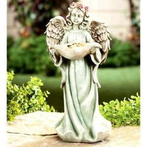 Solar Lighted Angel Garden Ornament Yard Statue Figurine Lawn Sculpture 14quot;H $49.95