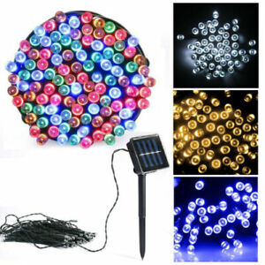 Solar Powered LED String Fairy Lights 8 Mode Waterproof Outdoor Party Decoration