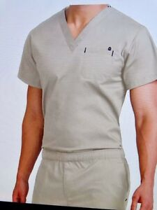 MC2 Men#x27;s Med Couture Scrub Sets Top:8486 1Pkts Pant:8702 7Pkts Khaki 3XL NWT