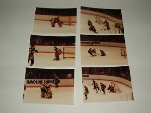 VINTAGE 1980#x27;S ROBERTO ROMANO PITTSBURGH PENGUINS ORIGINAL GOALIE MASK PHOTO LOT $5.75