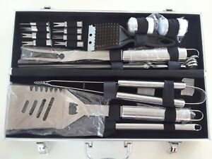 Romanticist Stainless Steel Heavy Duty 19 Pc BBQ Set