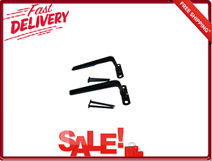 4 Pack Steel Bar Brackets for Security Bar Window Guard Black 3 Inch New