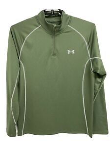 Under Armour Cold Gear fitted men's polo shirt long sleeve half zip size XL $27.55