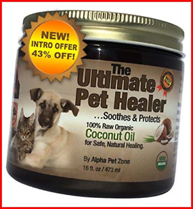 Alpha Pet Zone Coconut Oil for Dogs Treatment for Itchy Skin Dry Elbows Paws