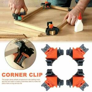4PCS 90 Degree Right Angle Clamp Holder Picture Frame Woodworking Corner Clamp $9.99