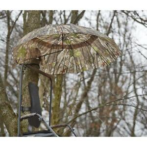 Large 54 in Umbrella Deer Hunting 2 person Tree Stand Ground Conceal Steel Frame