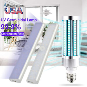 60W Ultraviolet UVC OZONE Germicidal Sterilizer Lamp LED Disinfection Light Bulb