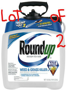 2 Roundup Ready-To-Use Weed & Grass Killer III with Pump 'N Go 2 Spray 1.33 gal.