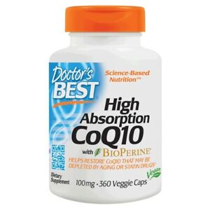 Doctor's Best High Absorption CoQ10 with BioPerine 100 mg. 360 Vegetarian