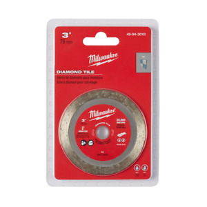 Milwaukee 3 in Diamond Ceramic Porcelain Tile Blade Wheel Angle Grinder Cut Off