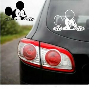 Peeking Winking Mickey Mouse Decal 5quot; x 8quot; Window Vinyl Car FAST FREE SHIPPING