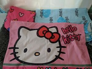 HELLO KITTY 3 Pc. Twin Bed Sheet Set, Flat, Fitted And Pillowcase