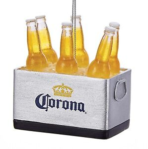 Kurt Adler Cooler Filled with Corona Beers  Holiday Ornament 3 Inches