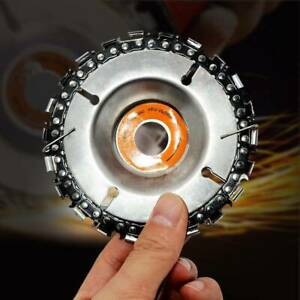 4 Inch Angle Grinder Disc and 22 Tooth Chain Saw For Wood Carving Cutting Tools