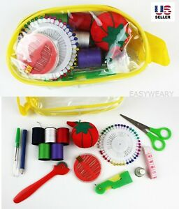 Sewing Kit Measure Scissor Thimble Thread Needle Storage Bag Travel Set Pack $5.99
