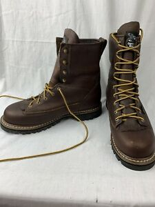 Georgia Men#x27;s G101 Waterproof Brown Leather Lace Logger Work Boots 10.5M