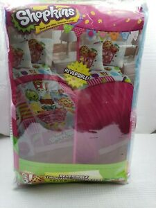 NIB Shopkins REVERSIBLE COMFORTER Twin- Full size 71 X 86 INCHES NEW SEALED