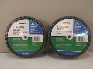 2 Pack Arnold Universal 7quot; Push Lawnmower Replacement Wheel $17.99
