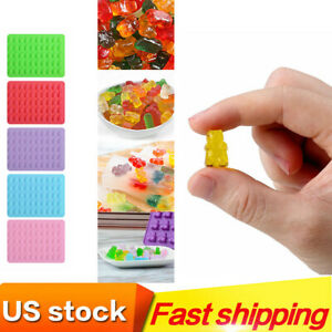 5PCS Food Grade Silicone Gummy Bear Mold With 2PCS Drops Bear Shape Molds