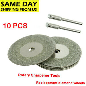 25mm Diamond Replacemant Wheels 10x For Tungsten Grinder Sharpener Rotary Tool