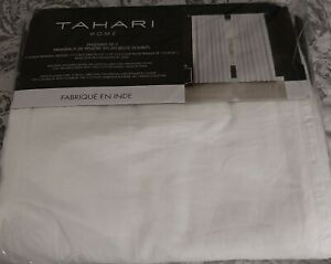 Tahari 50 x 96 Belgian Linen lined window panels curtains 2 panels white
