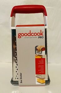 Goodcook Pro Comfort Grip Stainless Steel Box Grater W/ Container
