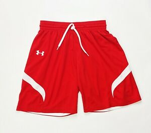 Under Armour Stock Reversible Short Youth Large 1254675 Red White $16.23