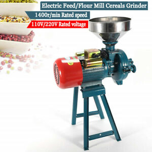 Electric Grinder Feed/Flour Mill Cereals Grain Corn Wheat Wet Dry 110V 2200W USA