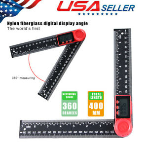 LCD Digital Angle Finder Ruler 8 Inch Protractor Measure Tools 200mm Angle Gauge $11.99
