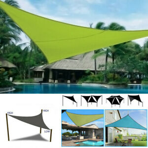 Waterproof Sun Shade Sail Patio Pool Top Cover Canopy 300D UV Outdoor Awnings US