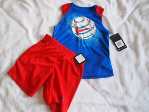 Nike Boys Size 4 XS 2 Piece Outfit, Top Shorts $24.64