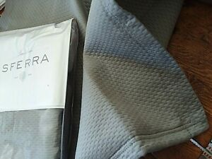 SFERRA ~ Perrio ~ MATELASSE   2) EURO SHAMS ~ SILVER ~ COTTON  PORTUGAL LUXURY