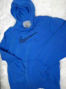 NIKE Boys Hoodie Blue Sweat Shirt Top L Long Sleeve $12.99