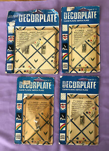 Lot 4 Creative Accents Clear Switch Plate Cover Use With Wallpaper Photo New USA
