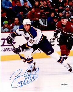 Bryce Salvador Signed St. Louis Blues 8x10 inch Photo JSA Sticker of Aproval $39.99