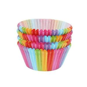 100x Colorful Rainbow Paper Cake Cupcake Liners Baking Muffin Cup Case Part kzNI