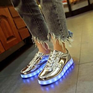 Luminous Sneakers Usb Kids Shoes Children Boys Girls Led Glowing Sneakers $31.55
