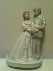 1989 PORCELAIN ROMANTIC EXPRESSIONS SUMMIT COLLECTION BRIDE & GROOM FIGURINE