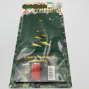 Guide Lights Fire Retardant Luminarias Package of 6 Green Vintage Unopened