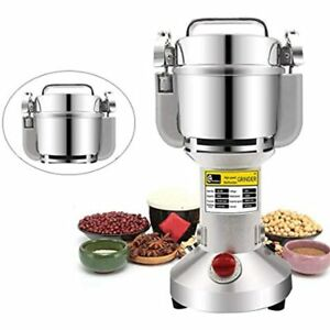 Stainless Steel Safety Upgraded Electric Grain Grinder Mill High-speed Spice Dry
