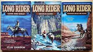 LONG RIDER SERIES CLAY DAWSON WESTERN PAPERBACK LOT