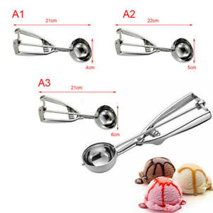 Summer Ice Cream Spoon Stainless Steel Handle Masher Cookie Scoop Tools Newest a