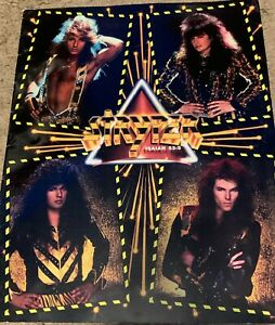 STRYPER tour program book IN GOD WE TRUST michael sweet  BONUS poison bon jovi